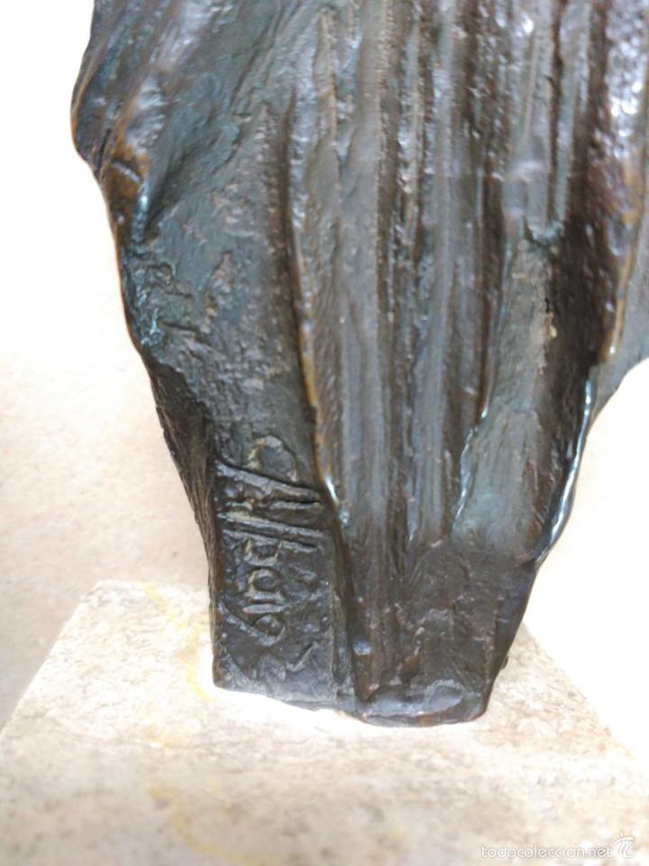 Arte: Escultura de bronce, el beso, en peana de piedra - Foto 13 - 56464478