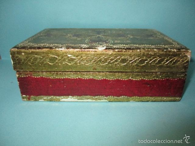 Arte: Antigua caja de madera con pan de oro (ver fotos) 15 x 10 x 5 cm - Foto 2 - 56526665