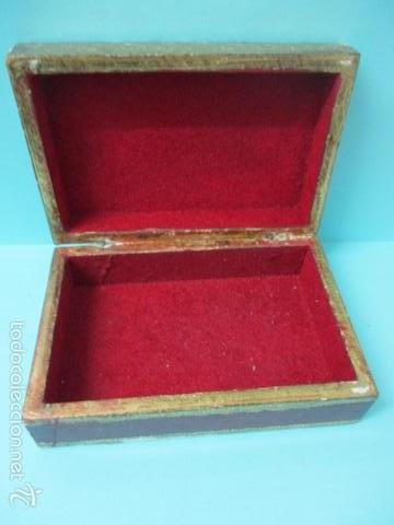 Arte: Antigua caja de madera con pan de oro (ver fotos) 15 x 10 x 5 cm - Foto 3 - 56526665