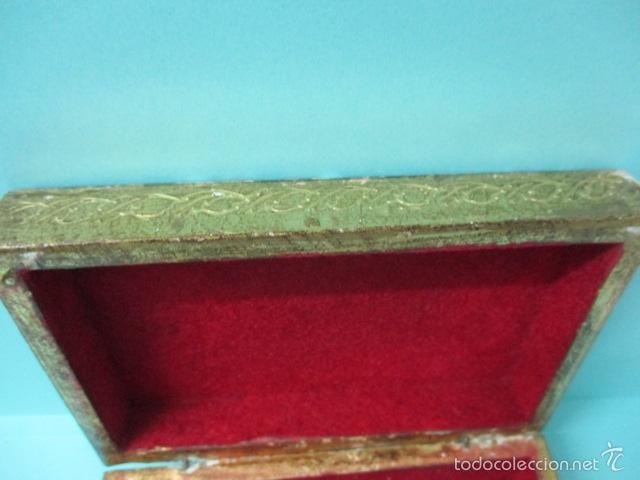 Arte: Antigua caja de madera con pan de oro (ver fotos) 15 x 10 x 5 cm - Foto 4 - 56526665