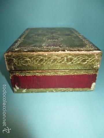 Arte: Antigua caja de madera con pan de oro (ver fotos) 15 x 10 x 5 cm - Foto 6 - 56526665