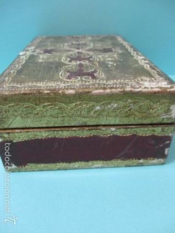 Arte: Antigua caja de madera con pan de oro (ver fotos) 15 x 10 x 5 cm - Foto 9 - 56526665