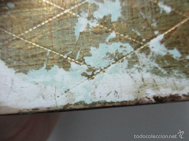 Arte: Antigua caja de madera con pan de oro (ver fotos) 15 x 10 x 5 cm - Foto 12 - 56526665