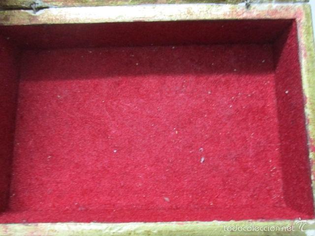 Arte: Antigua caja de madera con pan de oro (ver fotos) 15 x 10 x 5 cm - Foto 14 - 56526665