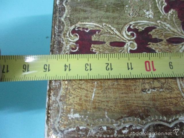 Arte: Antigua caja de madera con pan de oro (ver fotos) 15 x 10 x 5 cm - Foto 15 - 56526665
