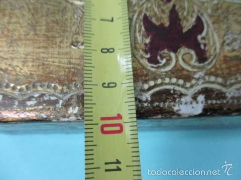 Arte: Antigua caja de madera con pan de oro (ver fotos) 15 x 10 x 5 cm - Foto 16 - 56526665
