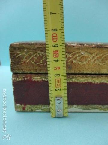 Arte: Antigua caja de madera con pan de oro (ver fotos) 15 x 10 x 5 cm - Foto 17 - 56526665