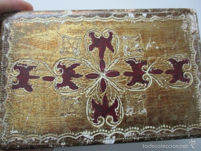 Arte: Antigua caja de madera con pan de oro (ver fotos) 15 x 10 x 5 cm - Foto 18 - 56526665