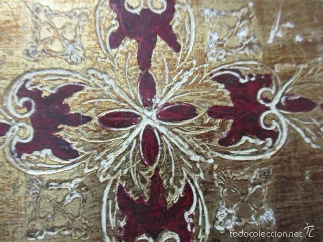 Arte: Antigua caja de madera con pan de oro (ver fotos) 15 x 10 x 5 cm - Foto 19 - 56526665