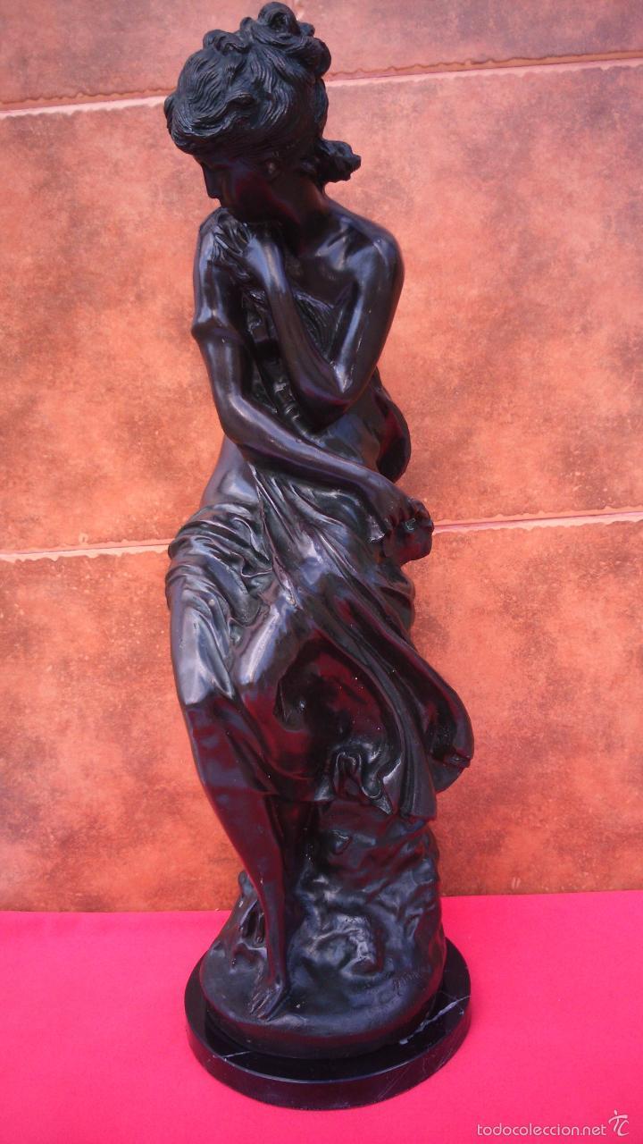 ESCULTURA EN BRONCE -VENUS-, FIRMADA MOREAU. CIRCA 1900. 65 CMS DE ALTURA. (Arte - Escultura - Bronce)