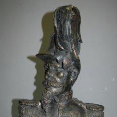 Arte: BUSTO NAPOLEÓN III EN TERRACOTA DE 51 CM ALTO FIRMADO. Lote 164802926