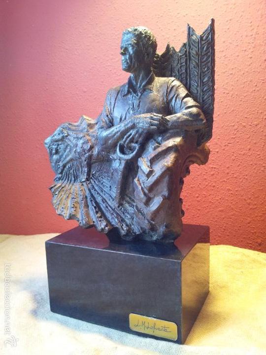 ESCULTURA PATINADA AL BRONCE L.M.LAFUENTE SERIE LIMITADA 28 / 2500 INVERART-INVER ART BARCELONA (Arte - Escultura - Resina)