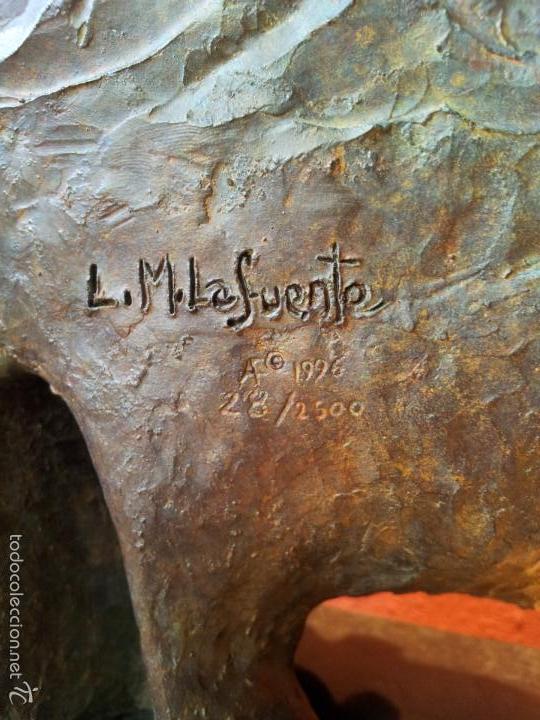 Arte: ESCULTURA PATINADA AL BRONCE L.M.LAFUENTE SERIE LIMITADA 28 / 2500 INVERART-INVER ART BARCELONA - Foto 10 - 57044458