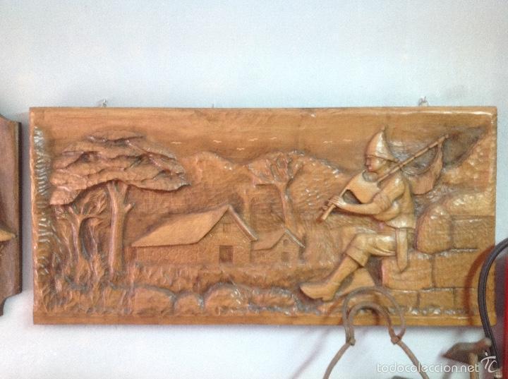 talla de madera artesana gallega arte escultura madera