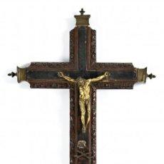 Arte: IMPORTANTE CRISTO EN BRONCE DORADO DEL S.XVI. CIRCULO DE LOS LEONI.. Lote 57438362