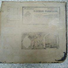 Arte: ÚNICA PIEDRA LITOGRÁFICA BANCO PASTOR LA CORUÑA 1920. Lote 57526810