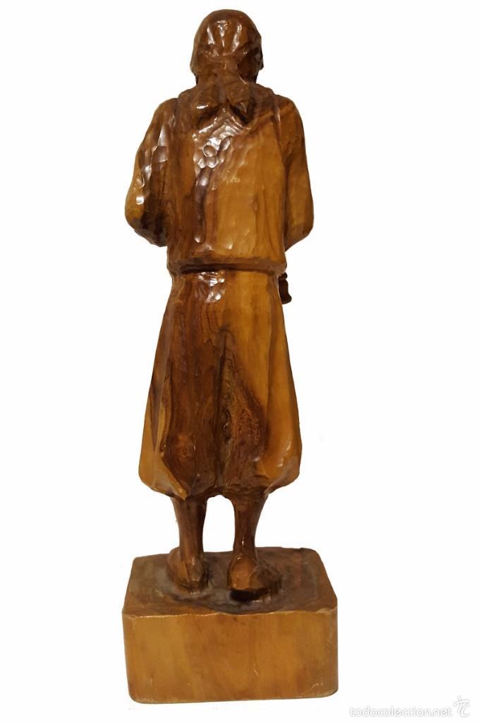 Arte: Talla madera olivo representando gaitero Balear - Foto 4 - 57609878