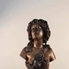 Arte: BUSTO DE BRONCE LA PRIMAVERA, CLÉSINGER, 1857.BARBEDIENNE.. Lote 57680170