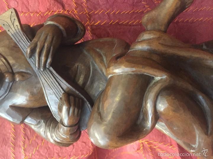 Arte: TROVADOR MEDIEVAL EN TALLA, ESC. ALEMANA - Foto 8 - 57805254