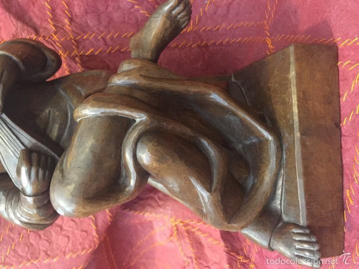 Arte: TROVADOR MEDIEVAL EN TALLA, ESC. ALEMANA - Foto 9 - 57805254