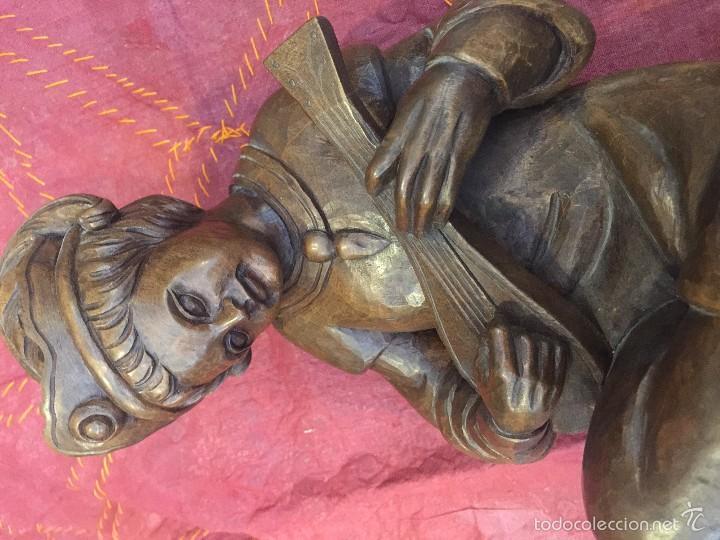Arte: TROVADOR MEDIEVAL EN TALLA, ESC. ALEMANA - Foto 14 - 57805254