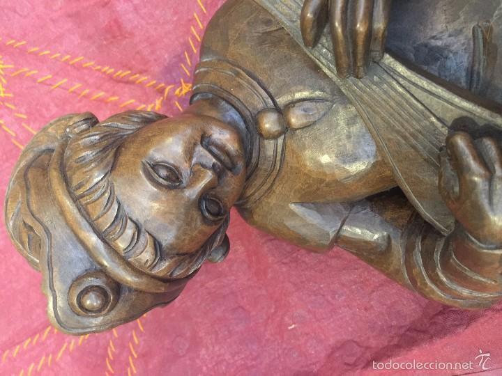 Arte: TROVADOR MEDIEVAL EN TALLA, ESC. ALEMANA - Foto 16 - 57805254