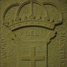 Arte: HERMANDAD DEL MAESTRAZGO. ESCUDO TALLADO EN PIEDRA ENRIQUE SOMAVILLA. CIRCA 1970. Lote 49341403