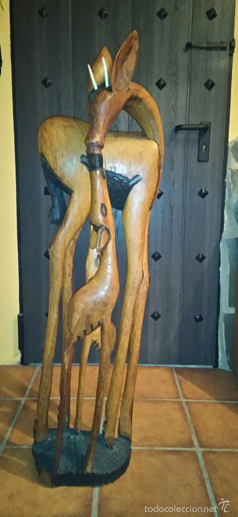 TALLA DE MADERA MACIZA (Arte - Escultura - Madera)