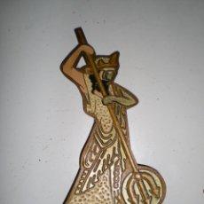 Arte: PRECIOSO PISAPAPELES DIOS POSEIDON GRECIA EN BRONCE ENAMEL SELLADO MIDE 20 CM. Lote 58392729