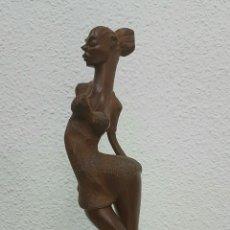 Arte: PRECIOSA Y SEXI ESCULTURA EN MADERA, SIN FIRMA.. Lote 58436340