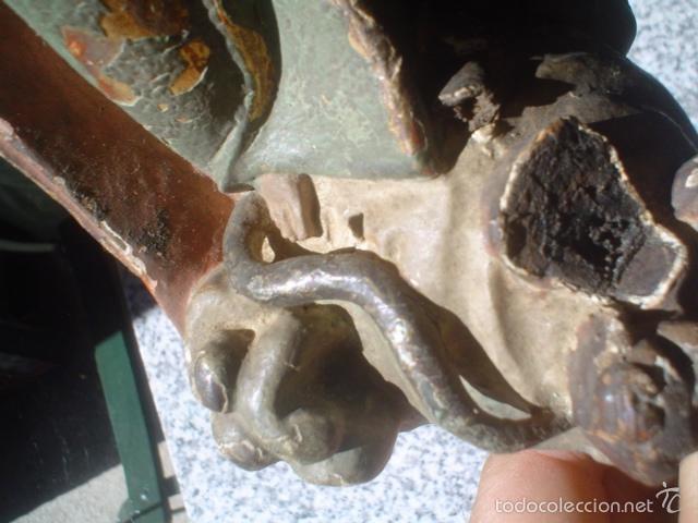 Arte: imaculada concepcion con policromia resto dorados al oro talla siglo xviii - Foto 10 - 58464294