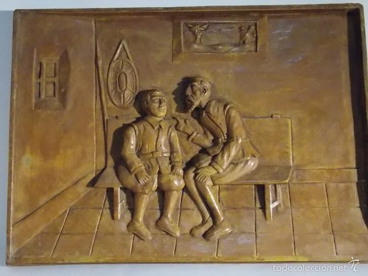 Arte: Antigua talla madera resina Don Quijote y Sancho Panza - Foto 2 - 58683068