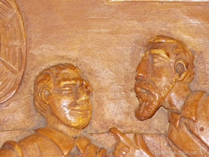 Arte: Antigua talla madera resina Don Quijote y Sancho Panza - Foto 3 - 58683068