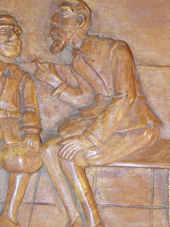 Arte: Antigua talla madera resina Don Quijote y Sancho Panza - Foto 5 - 58683068