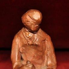 Arte: JOSEP MARIA BRULL PAGÈS (ASCÓ, 1907 - RIPOLLET, 1995) FIGURA EN TERRACOTA. Lote 58976660