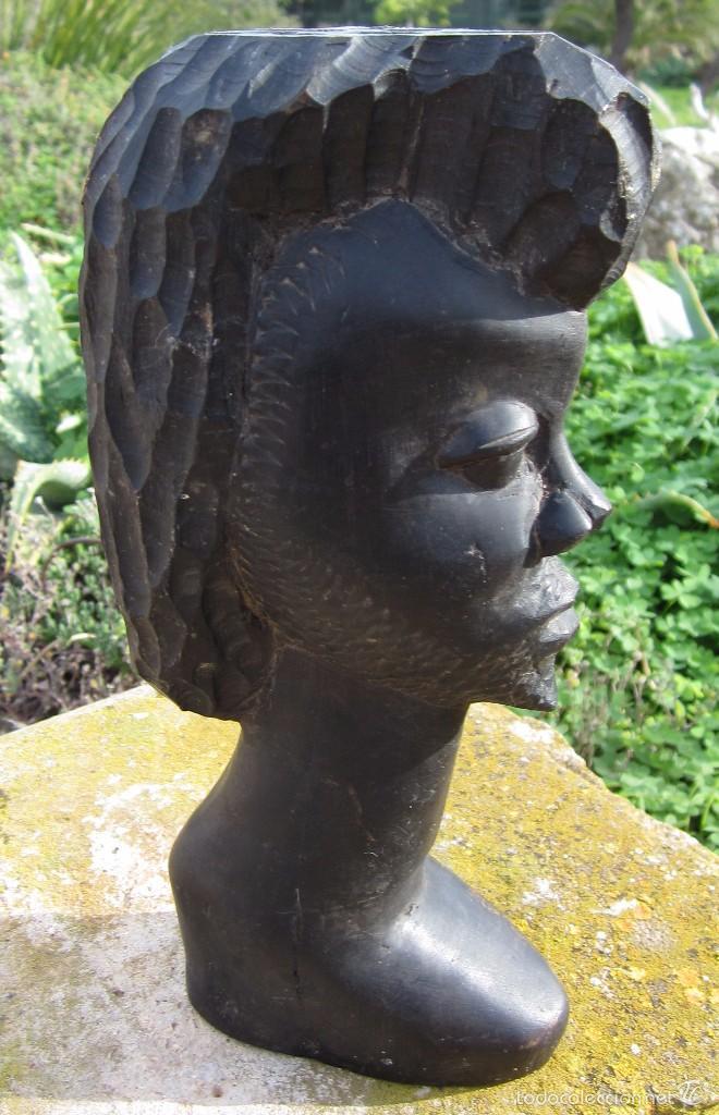 ESCULTURA TALLA AFRICANA EBANO (Arte - Escultura - Madera)