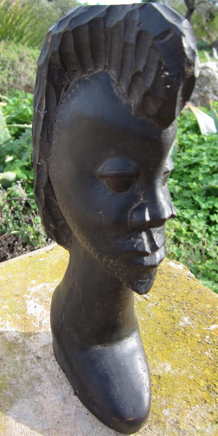 Arte: Escultura talla africana ebano - Foto 4 - 59479959