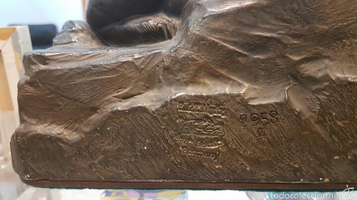 Arte: Espectacular escultura en terracota años 30, numerada y firmada. - Foto 5 - 59935018