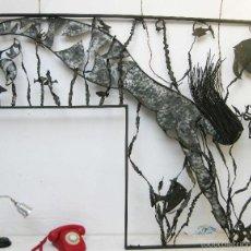 Arte: ENORME FORJADO SIRENA PECES PULPOS IDEAL DECORACION O REJA E PALANCA TABERNES VALENCIA. Lote 60081959
