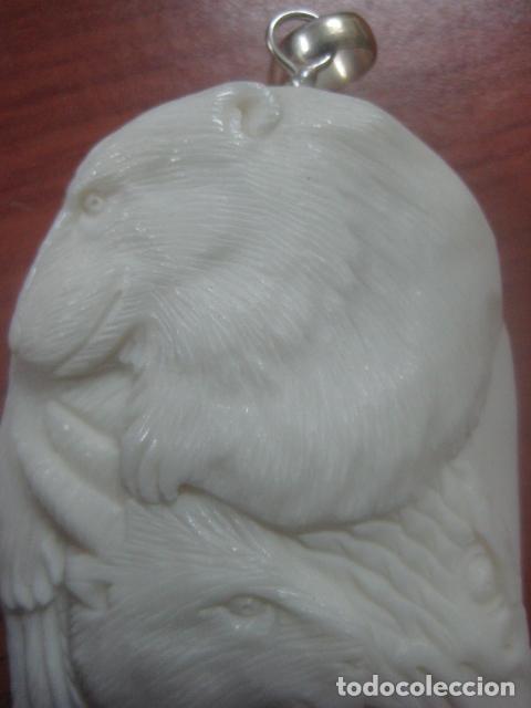Arte: PRECIOSA TALLA DE MARFIL COMPLETO TALLADO EN FORMA DE ANIMALES, 8 CMS DE LARGO, 21 GRAMOS - Foto 4 - 180414811