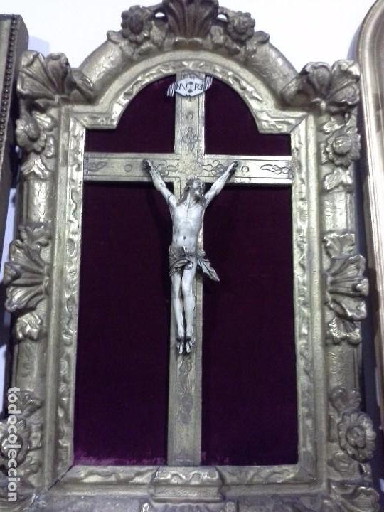 Arte: Cuadro cristo de marfil. S.XVIII - Foto 4 - 62069092