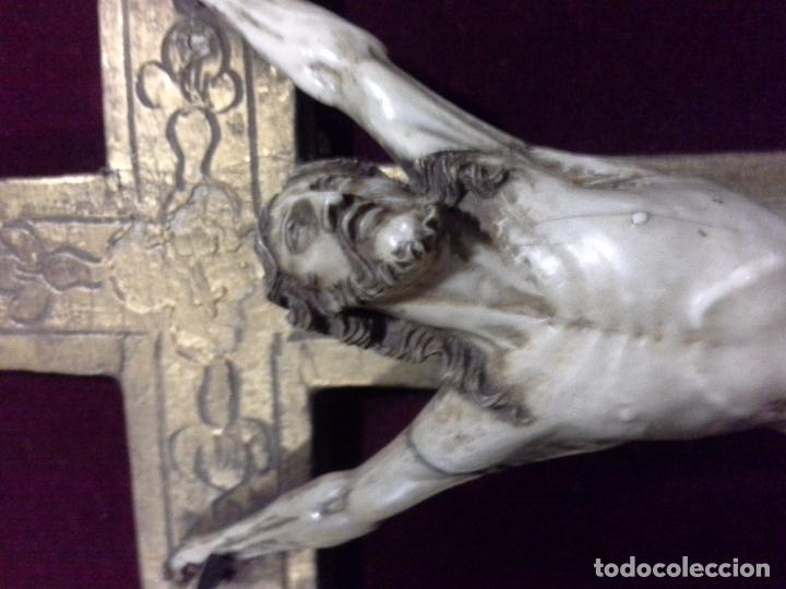 Arte: Cuadro cristo de marfil. S.XVIII - Foto 8 - 62069092