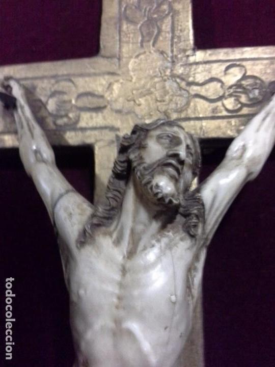 CUADRO CRISTO DE MARFIL. S.XVIII (Arte - Escultura - Marfil)