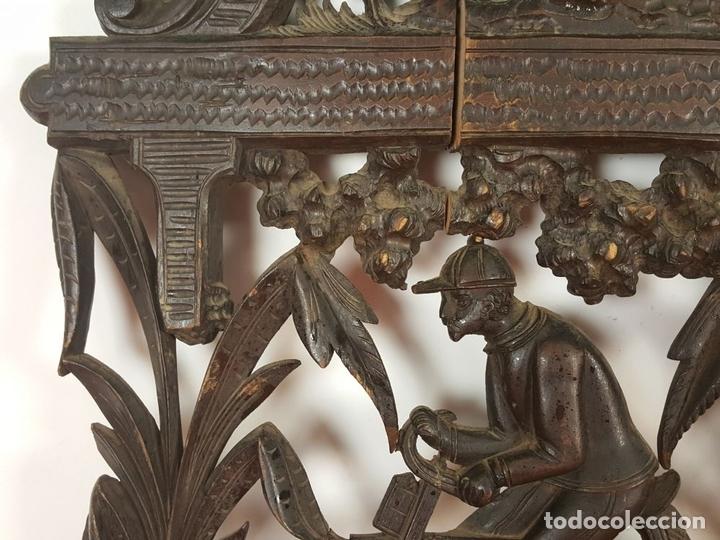 Arte: PLAFON EN MADERA TALLADA Y CALADA. SELVA NEGRA. ALEMANIA. SIGLO XIX-XX. - Foto 3 - 62263100