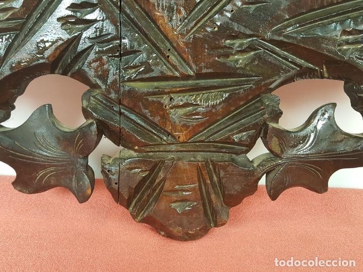 Arte: PLAFON EN MADERA TALLADA Y CALADA. SELVA NEGRA. ALEMANIA. SIGLO XIX-XX. - Foto 17 - 62263100