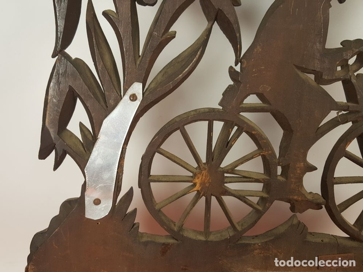 Arte: PLAFON EN MADERA TALLADA Y CALADA. SELVA NEGRA. ALEMANIA. SIGLO XIX-XX. - Foto 26 - 62263100