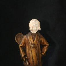 Arte: ESCULTURA CRISOELEFANTINA ART NOUVEAU MARFIL BRONCE. Lote 62560796