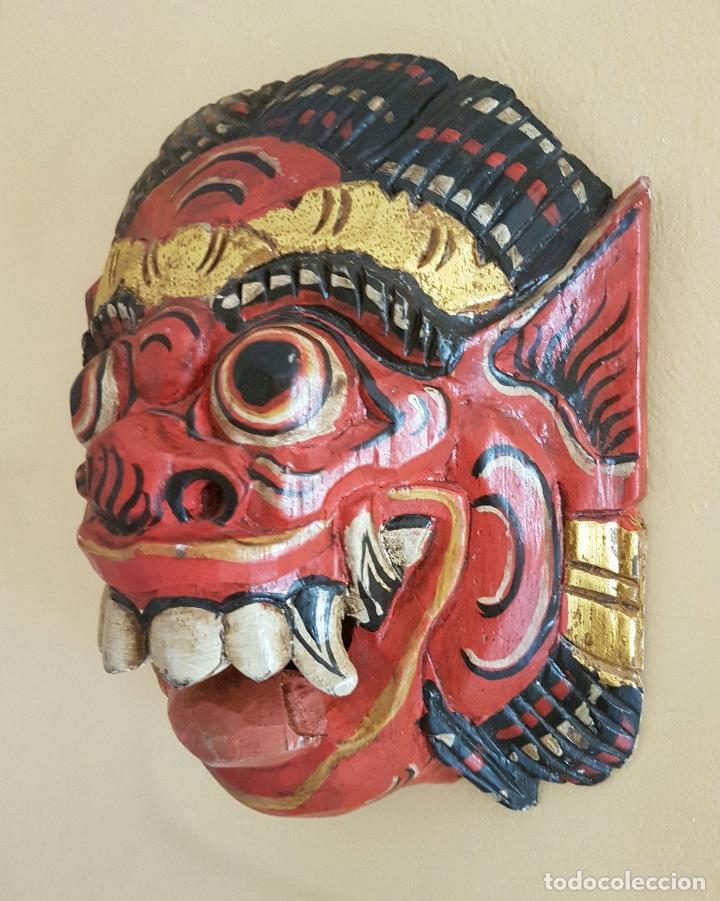Arte: Impresionante mascara antigua Balinesa de Barong en madera tallada y policromada a mano, Indonesia . - Foto 2 - 63267892