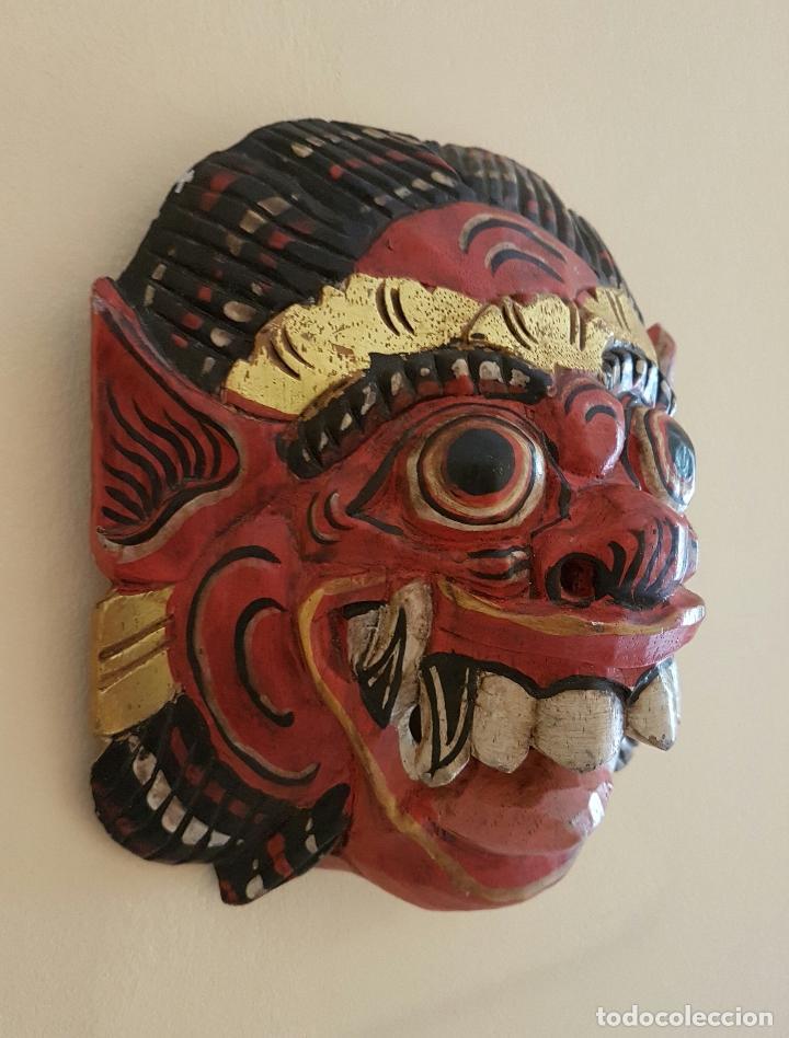 Arte: Impresionante mascara antigua Balinesa de Barong en madera tallada y policromada a mano, Indonesia . - Foto 4 - 63267892