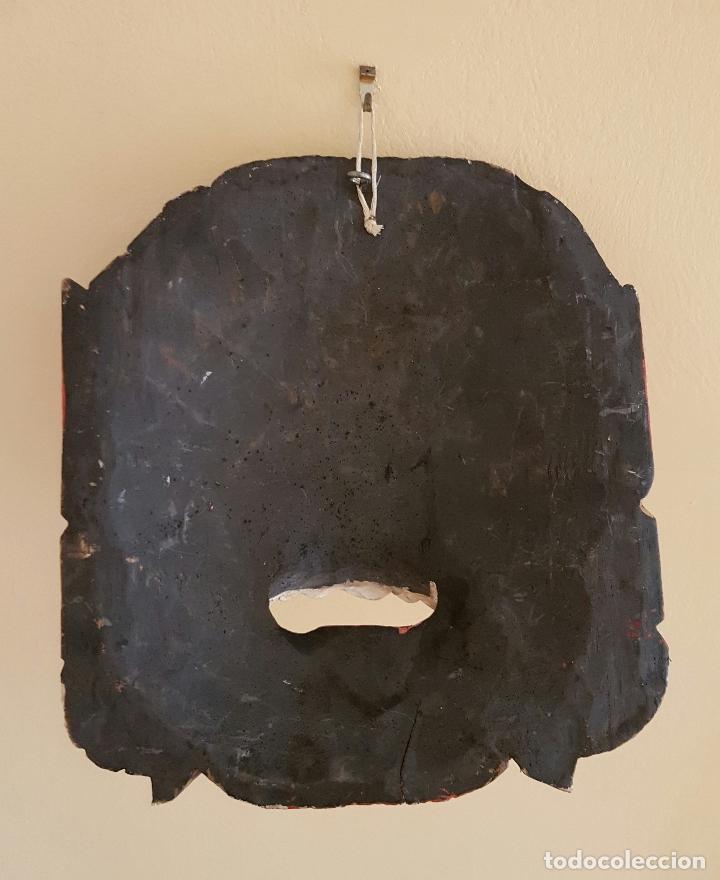Arte: Impresionante mascara antigua Balinesa de Barong en madera tallada y policromada a mano, Indonesia . - Foto 6 - 63267892